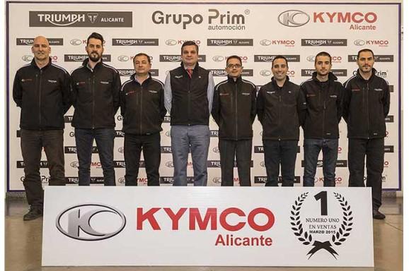 Kymco Alicante, Líderes en el 1 trimestre 2015