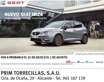 Prueba el Nuevo Seat Ibiza en Prim Torrecillas
