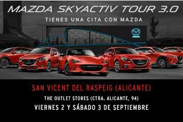 Roadshow Mazda en Outlet San Vicente