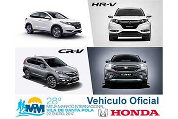 Honda Alicante coche oficial de la Media Maraton Villa de Santa Pola 2017