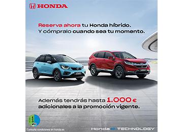Reserva ahora tu Honda híbrido y cómpralo cuando sea tu momento